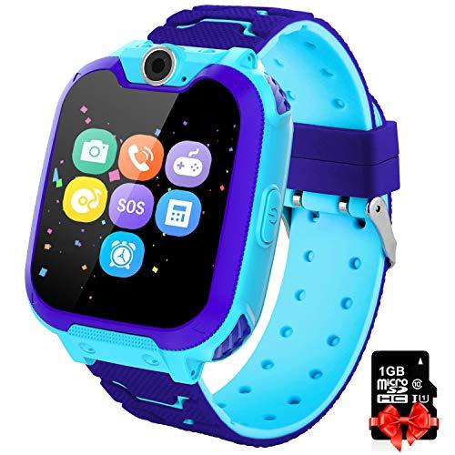 Kinder Spiel Smartwatch Telefon - Kinderuhr mit Rechner 7 Arten von Spiel...