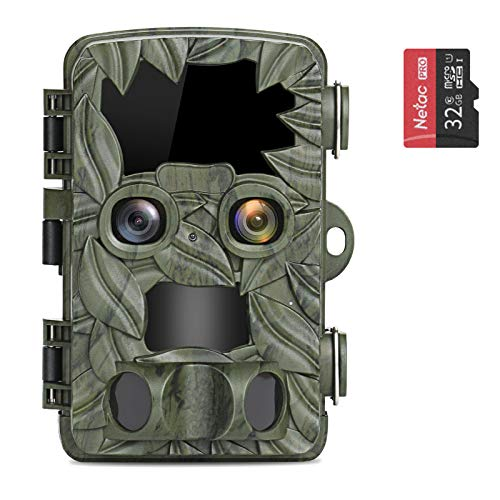 COOLIFE Wildkamera Dual-Kameras 4K 20MP Abzugsentfernung Bis 25 m...