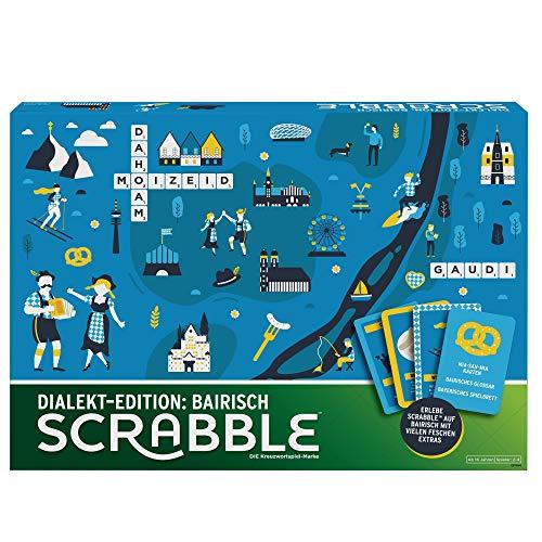 Mattel Games GPW44 - Scrabble Dialekt Edition Bayern Wörterspiel...