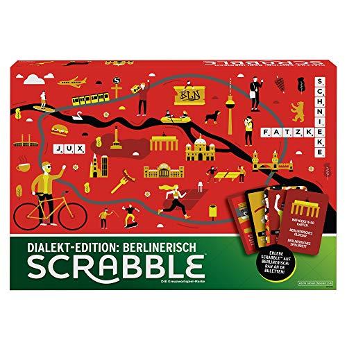 Mattel Games GPW45 - Scrabble Dialekt Edition Berlin Wörterspiel...