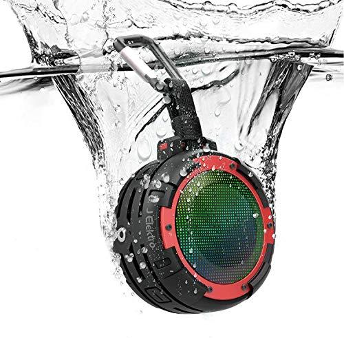 Bluetooth Lautsprecher IPX8 Wasserdicht,J Elektro Tragbare...