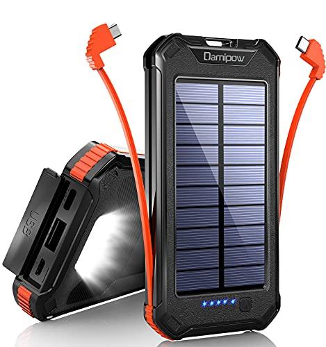 Solar Power Bank 20000mAh, Solarladegerät mit USB C-Eingang...