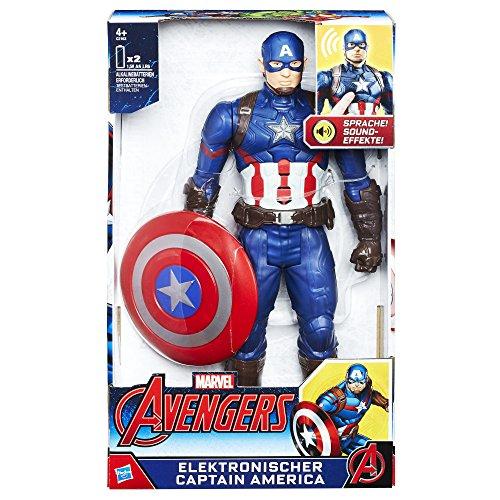 Hasbro C2163100 Elektronischer Titan Hero Captain America, 30 cm...