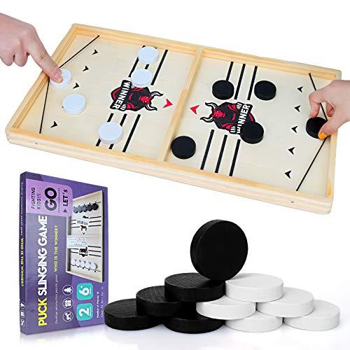 GUBOOM Brettspiel Hockey, Brettspiele Erwachsene, Spiele für...