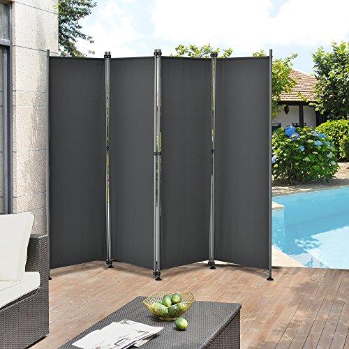 pro.tec Outdoor Trennwand - 170 x 215cm - Paravent Sichtschutz...