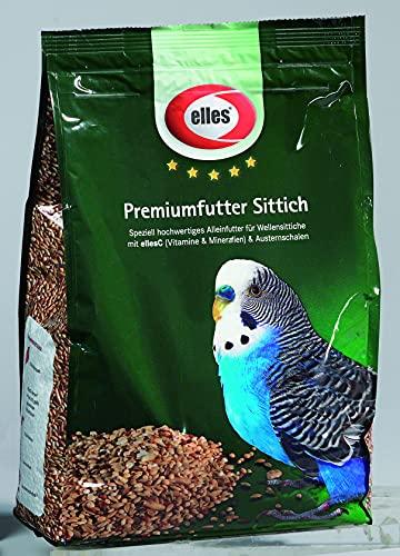 Elles Premium Sittichfutter, Futter für Sittiche/Wellensittiche,...