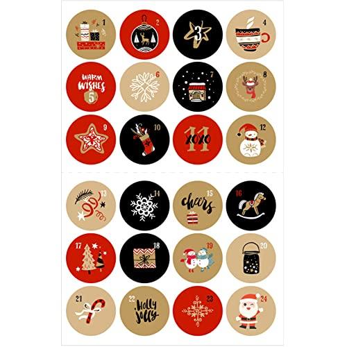 Herbests 24 Verschiedene Weihnachts Adventskalender Zahlen...