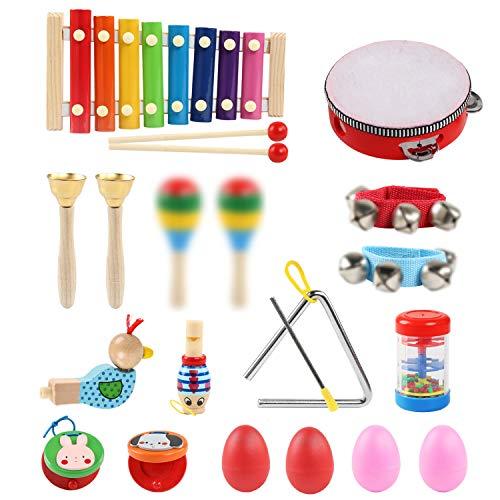 LinStyle Musikinstrumente Kinder, 24 Stück Musik Spielzeug...