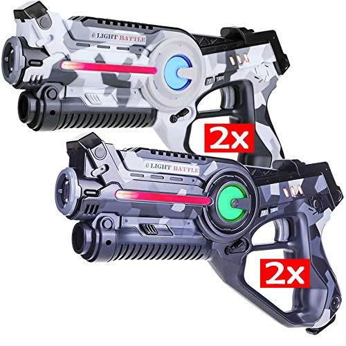 Light Battle Active Lasertag Set - 4 Spielzeugpistolen (camo...