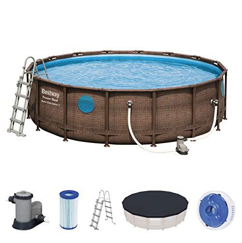 Bestway Power Steel Swim Vista 488x122 cm, Frame Pool rund mit...