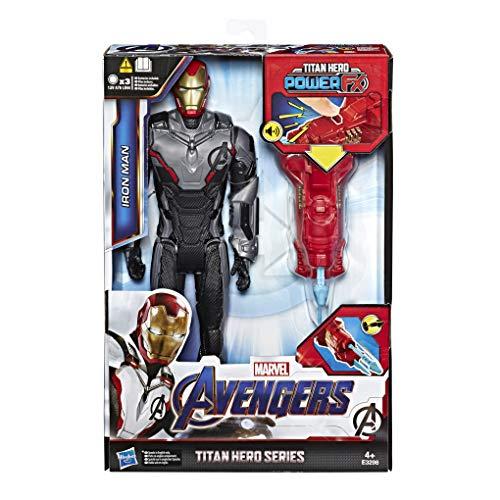 Hasbro Marvel E3298100 Avengers Titan Hero Iron Man mit Quantum Power Pack, ca. 30 cm große...