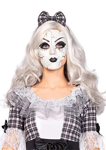 Leg Avenue A2757 - Porzellanpuppe Maske - Einheitsgröße, weiß,...