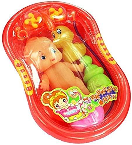 Hsj 6 PC-Kind-Kind-Plastik Baby Doll In Badewanne mit Dusch...