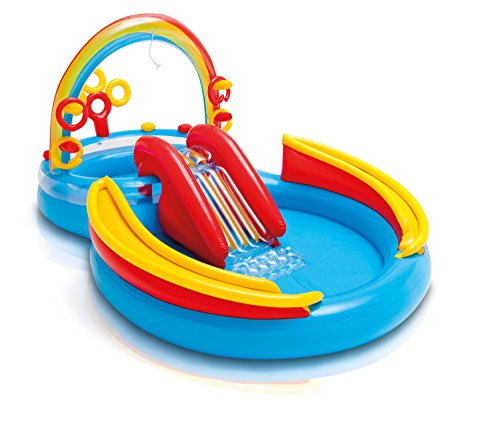 Intex Rainbow Ring Play Center - Kinder Aufstellpool - Planschbecken - 297 x 193 x 135 cm -...