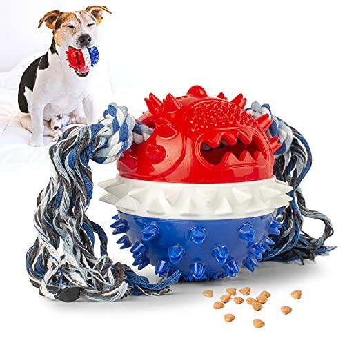 KINGLEAD Hundeball mit Zahnpflege,Kauspielzeug...