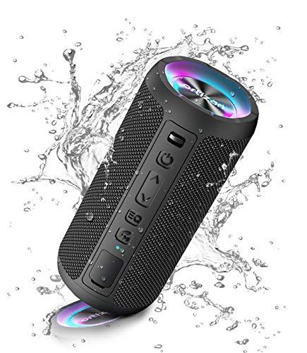 Ortizan Bluetooth Lautsprecher mit Licht, Tragbarer Bluetooth Box...