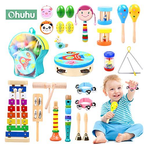 Ohuhu 28 Stück Musikinstrumente für Kinder, Musical Instruments...