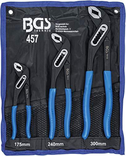 BGS 457 | Wasserpumpenzangen-Satz | 3-tlg. | 175-240-300 mm |...
