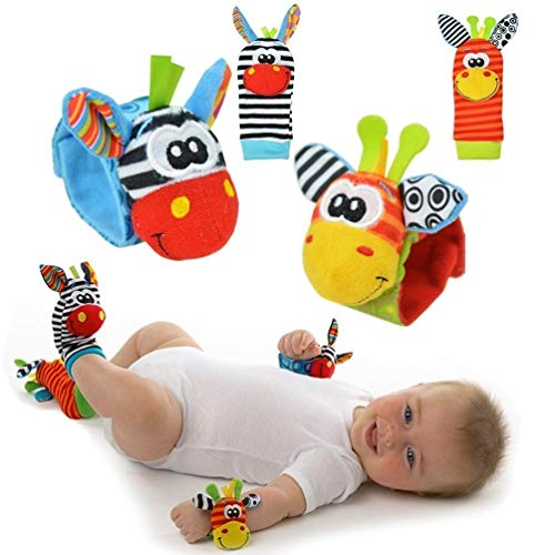 Baby Rattle Toy – Cute Animal Infant 4 (2 Waist and Socks) Soft...