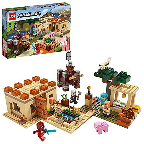 LEGO 21160 Minecraft Der Illager-Überfall Bauset mit Verwüster...