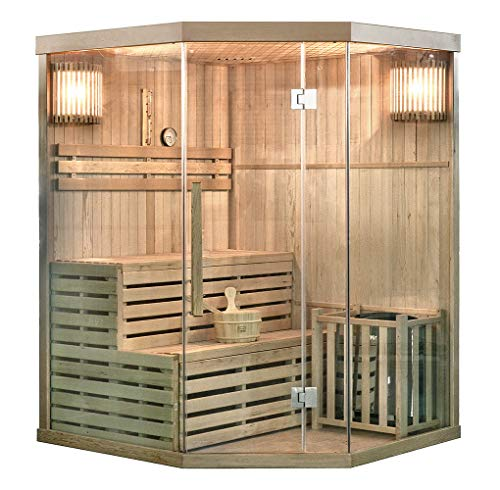 Home Deluxe - Traditionelle Sauna - Skyline XL - Holz:...