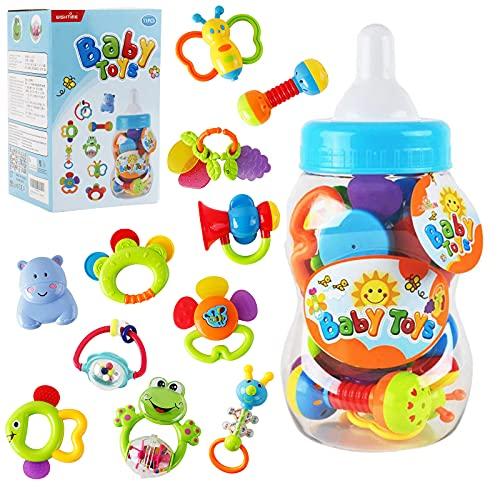 HANMUN Rassel Beißring Set Baby Spielzeug - Shaker Greifen...
