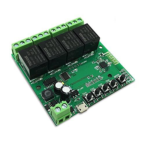 4 Kanäle Smart WiFi Modul 12V Smart Relais für Tuya Alexa für...
