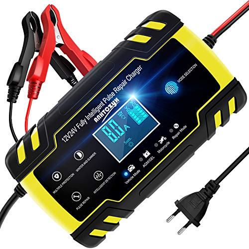 NWOUIIAY Autobatterie Ladegerät 8A 12V /24V Batterieladegerät...