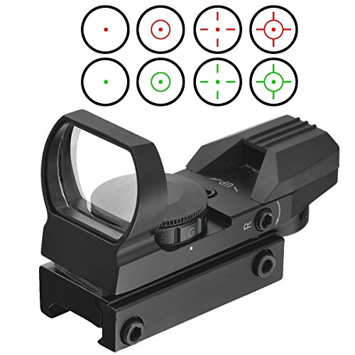 Red Dot Visier Sight Scope Leuchtpunktvisier Reflexvisier Reflex Sight Red Green mit Tactical 4...