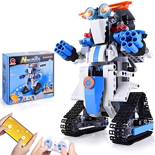 CIRO Roboter Kinder Spielzeug Bausatz Programmierbarer and Ferngesteuerter Steuerung per APP...