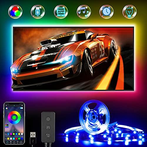 LED TV Hintergrundbeleuchtung, RGB LED Strip 4M für 45-75 Zoll...