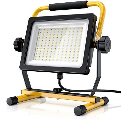 Brandson - 100W LED Baustrahler 144 SMD LEDs – Arbeitsleuchte...