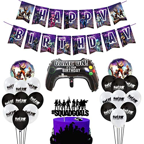 MIFIRE Video Gaming Partyzubehör Set Geburtstagsdeko Birthday...