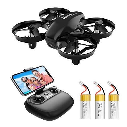 Potensic Mini Drohne A20W mit Kamera 3 Akkus RC Quadrocopter Drohne 2.4Ghz FPV Live...