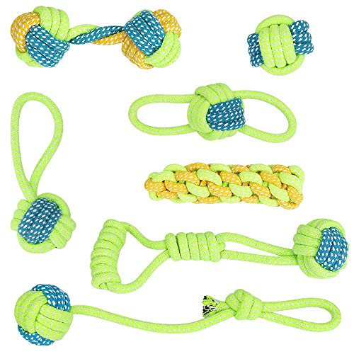 Welltop Hundespielzeug Seil, 7er-Pack Tau Hund Spielzeug,Hund...