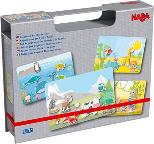 HABA 306279 - Magnetspielbox - Die Welt der Tiere, Kinderspiel in...