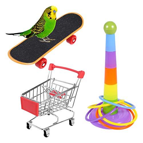 atnight Papagei Spielzeug Training Aktivitäten Set, 3 PCS Parrot...