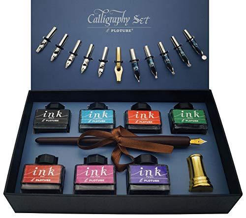 Kalligraphie-Set, 22-teilig – Enthält 7 Flaschen Inks, 12...