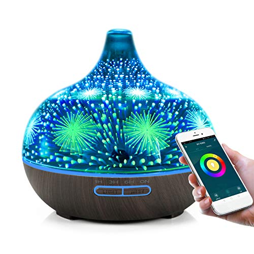 Alexa Aroma Diffuser, Smart Ätherische Öle Diffuser mit Telefon...