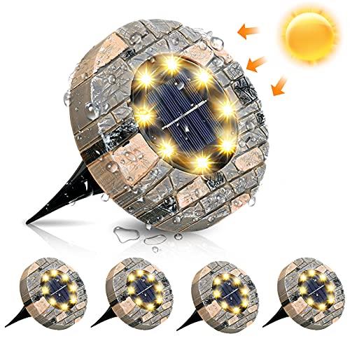 Solarleuchten, GLIME Solar Bodenleuchte 4er Set Gartenleuchte...