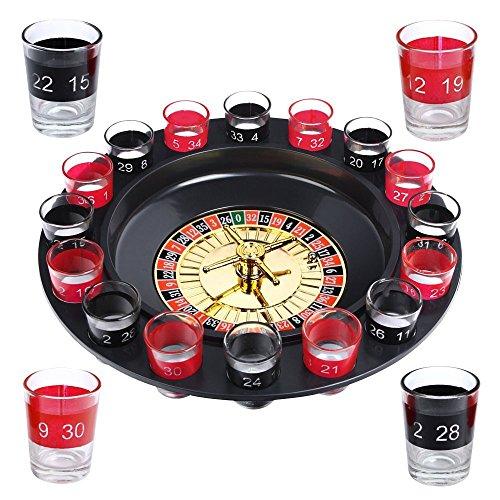 Schramm® Trinkspiel Roulette inkl. Geschenkverpackung Party...