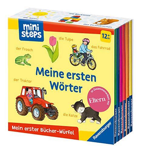 Mein erster Bücher-Würfel: Meine ersten Wörter (Bücher-Set): Ab 12 Monate (ministeps...