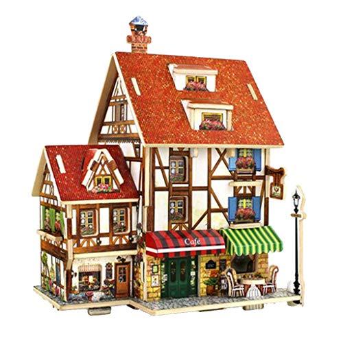 Toygogo 1/24 DIY Miniatur-Puppenhaus mit Möbel-Kit –...
