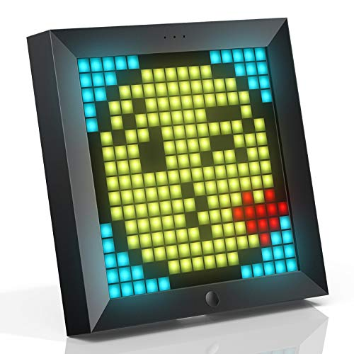 Divoom Pixoo Pixel Art Digitaler Bilderrahmen, Programmierbares 16 * 16 RGB LED Panel, Smart...