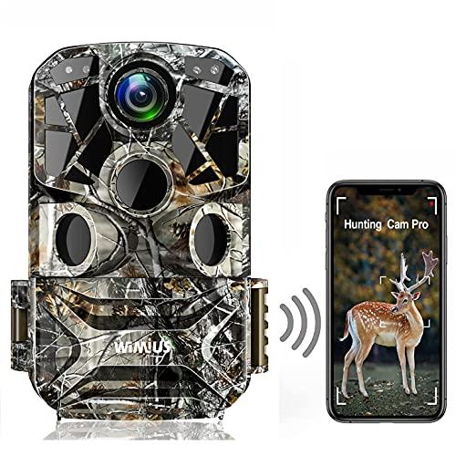 WiMiUS H8 WLAN Wildkamera 24MP 1296P Video WiFi Wildkamera mit...