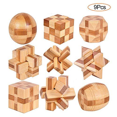 YGZN 9 Stück Denksportaufgaben Cube - Knobelspiele Set -...
