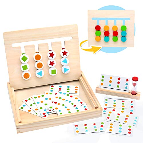 MontessoriSpielzeug Holz Puzzle Sortierbox Kinder Lernspielzeug...