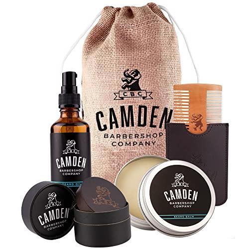 Camden Barbershop Company: Deluxe Bartpflege-Set inkl. Bart-Öl,...