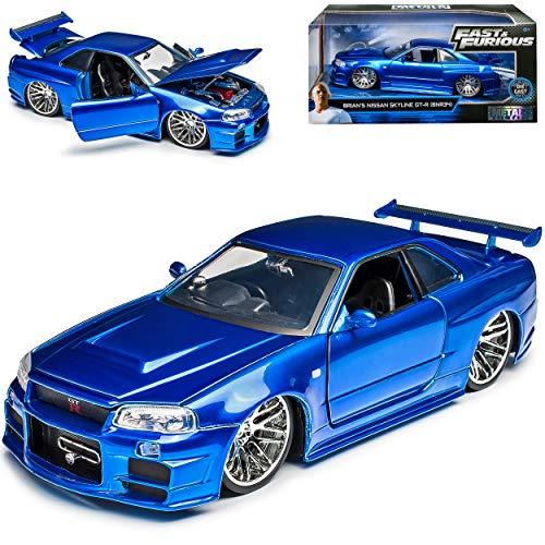 Nisan Skyline GT-R R34 Blau Brian´s Paul Walker The Fast and The...