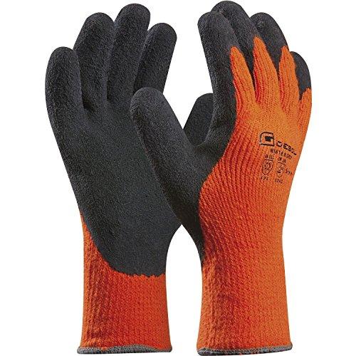 Arbeitshandschuh WINTER GRIP | Größe 10 (XL) | orange/schwarz |...